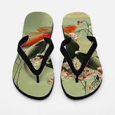 zen japanese koi fish Flip Flops