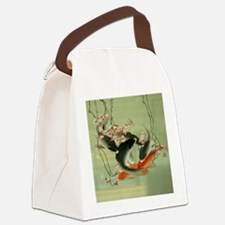 zen japanese koi fish Canvas Lunch Bag