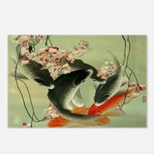 zen japanese koi fish Postcards (Package of 8)