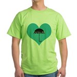Rainy Forks, WA Green T-Shirt