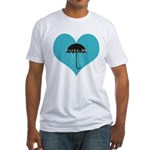 Rainy Forks, WA Fitted T-Shirt