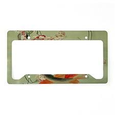 zen japanese koi fish License Plate Holder