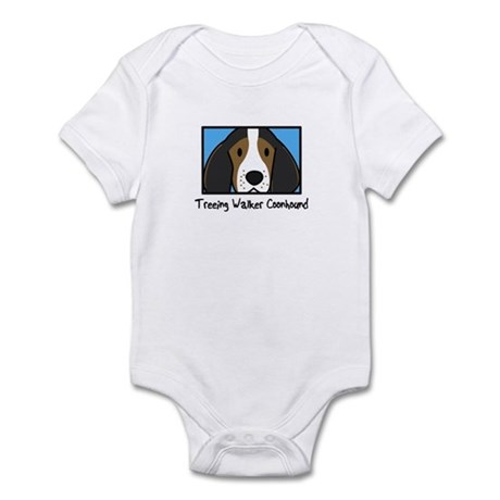 Anime Treeing Walker Coonhound Baby Bodysuit