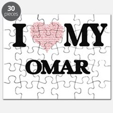 I Love my Omar (Heart Made from Love my wor Puzzle