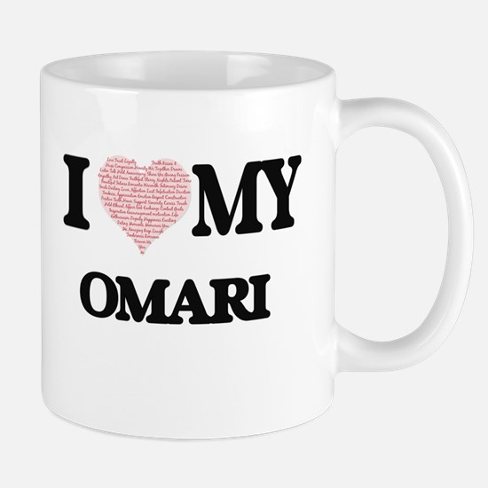 I Love my Omari (Heart Made from Love my word Mugs