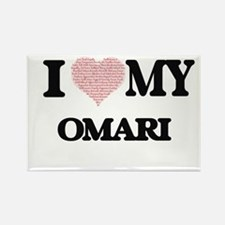 I Love my Omari (Heart Made from Love my w Magnets