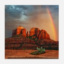 Rainbow In Grand Canyon Tile Coaster