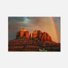 Rainbow In Grand Canyon Magnets