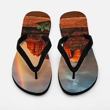 Rainbow In Grand Canyon Flip Flops