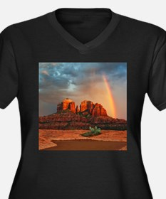 Rainbow In Grand Canyon Plus Size T-Shirt