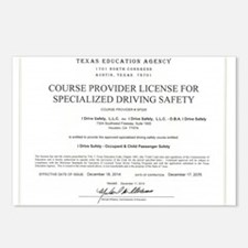 Driving Certificate Postcards (Package of 8)