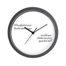 Funny Smart blonde Wall Clock