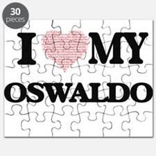 I Love my Oswaldo (Heart Made from Love my Puzzle