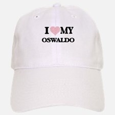 I Love my Oswaldo (Heart Made from Love my wor Baseball Baseball Cap