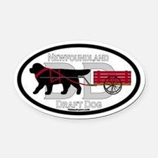 Newfoundland Draft Dog Title Oval Car Magnet