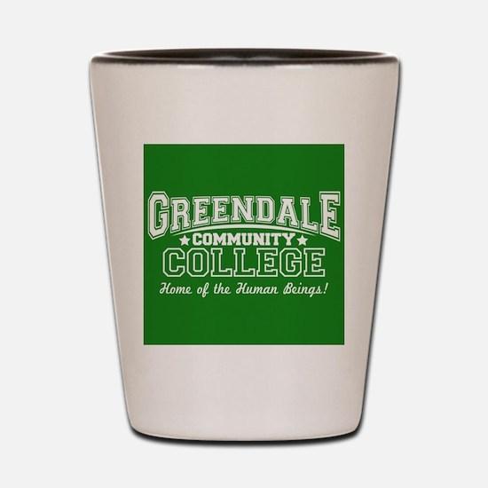 Greendale Community College Shot Glass