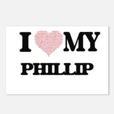 I Love my Phillip (Heart Postcards (Package of 8)