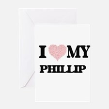 I Love my Phillip (Heart Made from Greeting Cards