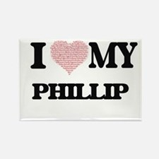 I Love my Phillip (Heart Made from Love my Magnets