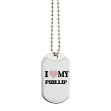 I Love my Phillip (Heart Made from Love m Dog Tags