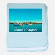 Edgartown Harbor baby blanket