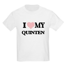 I Love my Quinten (Heart Made from Love my T-Shirt