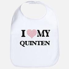 I Love my Quinten (Heart Made from Love my wor Bib