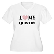 I Love my Quintin (Heart Made fr Plus Size T-Shirt