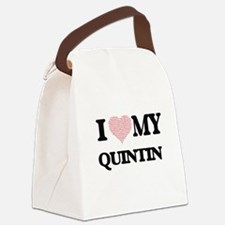 I Love my Quintin (Heart Made fro Canvas Lunch Bag