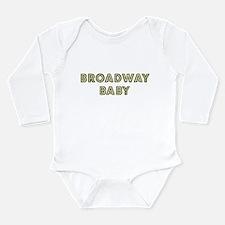 Unique New york broadway Long Sleeve Infant Bodysuit