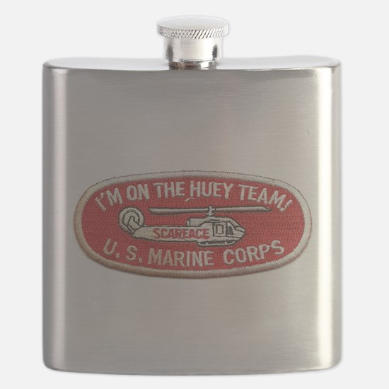 Scarface I'm On The Huey Team Helicopter Flask