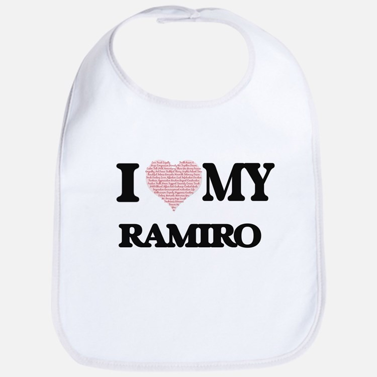 I Love my Ramiro (Heart Made from Love my word Bib