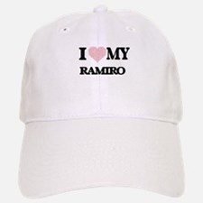 I Love my Ramiro (Heart Made from Love my word Baseball Baseball Cap