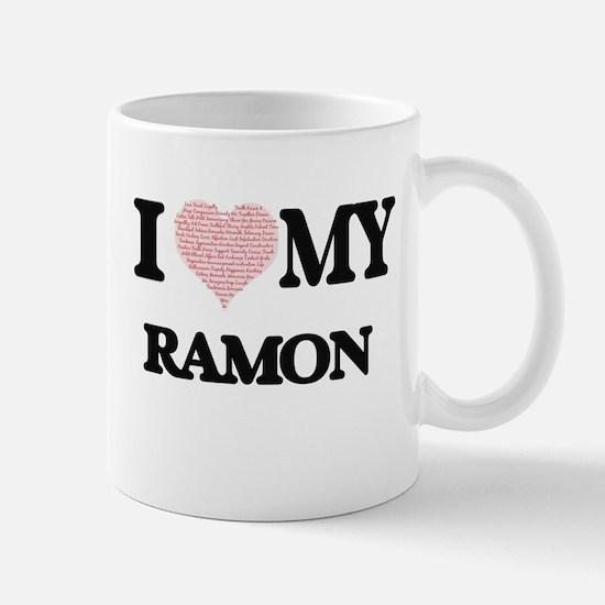 I Love my Ramon (Heart Made from Love my word Mugs