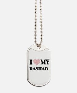 I Love my Rashad (Heart Made from Love my Dog Tags