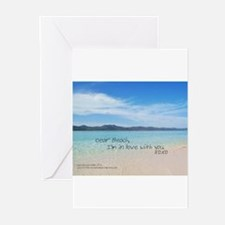 Love Notes To The Beach Greeting Cards
