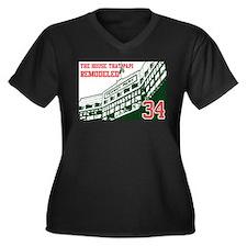 Unique Boston red sox baseball Women's Plus Size V-Neck Dark T-Shirt