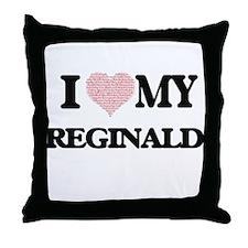 I Love my Reginald (Heart Made from L Throw Pillow