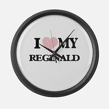 I Love my Reginald (Heart Made fr Large Wall Clock