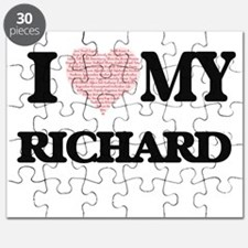 I Love my Richard (Heart Made from Love my Puzzle