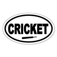 Cricket Bat Oval Stickers