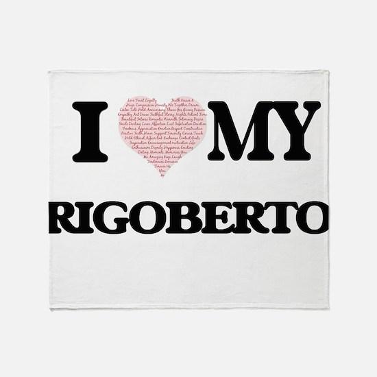 I Love my Rigoberto (Heart Made from Throw Blanket