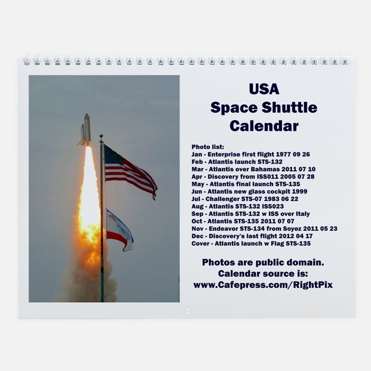 Space Shuttle Wall Calendar