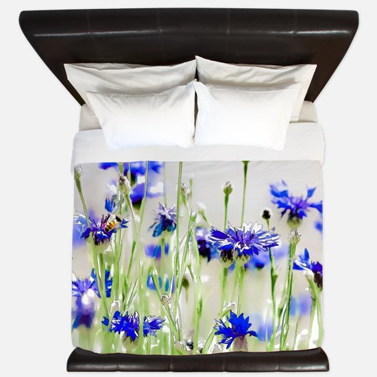So Many Flowers, So Little Time King Duvet