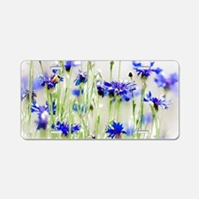 So Many Flowers, So Little Aluminum License Plate