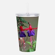 Fuchsia and Hummingbir Acrylic Double-wall Tumbler
