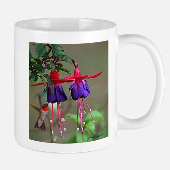 Fuchsia and Hummingbird Mugs