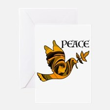 Peace Dove-Gld Greeting Cards