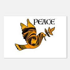 Peace Dove-Gld Postcards (Package of 8)