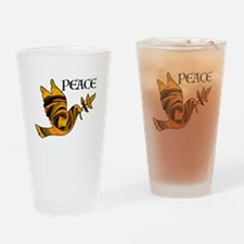 Peace Dove-Gld Drinking Glass